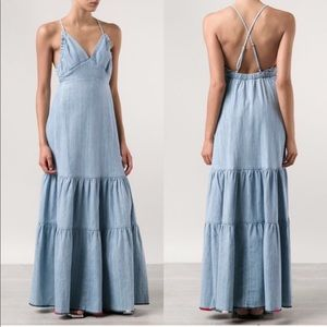 •Wildfox• Dazed Denim Maxi Dress